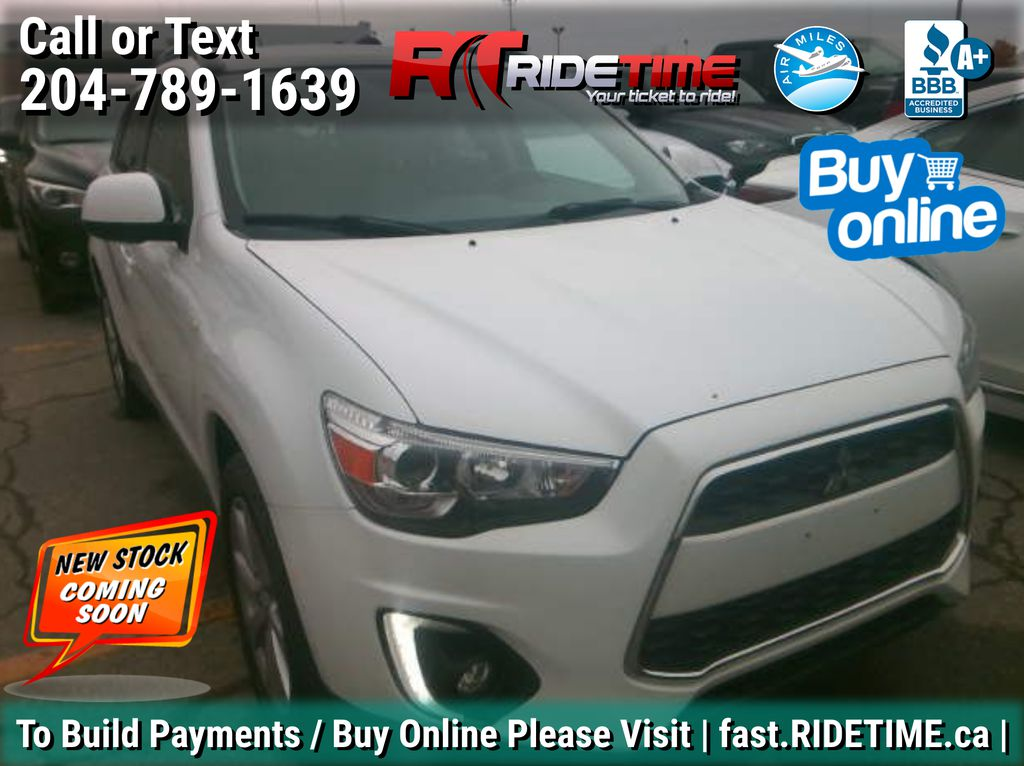 White[White Pearl] 2015 Mitsubishi RVR GT 4WD - Leather, Panoramic Roof, Backup Cam