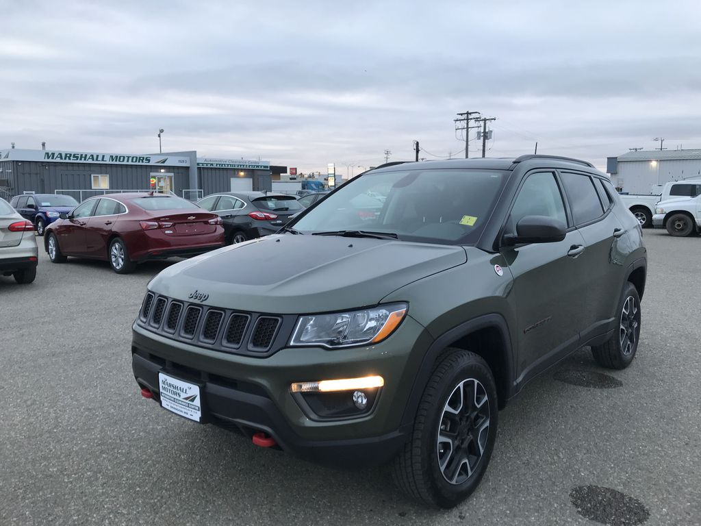 Green 2019 Jeep Compass Trailhawk 4x4 *Back-Up Cam** Heated Seats**Bluetooth**