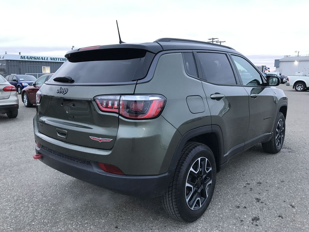 Green 2019 Jeep Compass Trailhawk 4x4 *Back-Up Cam** Heated Seats**Bluetooth** Right Rear Corner Photo in Brandon MB
