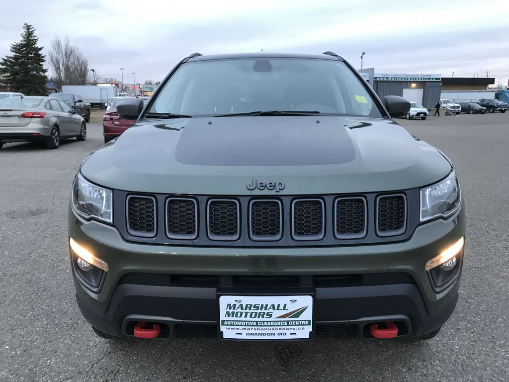 Green 2019 Jeep Compass Trailhawk 4x4 *Back-Up Cam** Heated Seats**Bluetooth** Front Vehicle Photo in Brandon MB