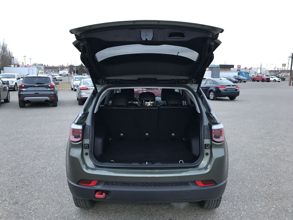 Green 2019 Jeep Compass Trailhawk 4x4 *Back-Up Cam** Heated Seats**Bluetooth** Trunk / Cargo Area Photo in Brandon MB