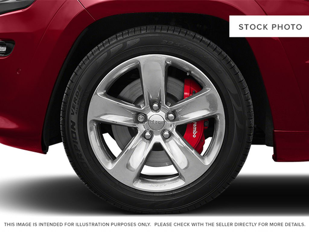 Black[Brilliant Black Crystal Pearlcoat] 2014 Jeep Grand Cherokee Left Front Rim and Tire Photo in Fort Macleod AB