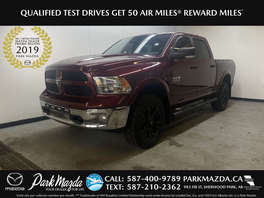 RED 2018 Ram 1500 Outdoorsman - Bluetooth, Backup Camera, Heated Front Seats