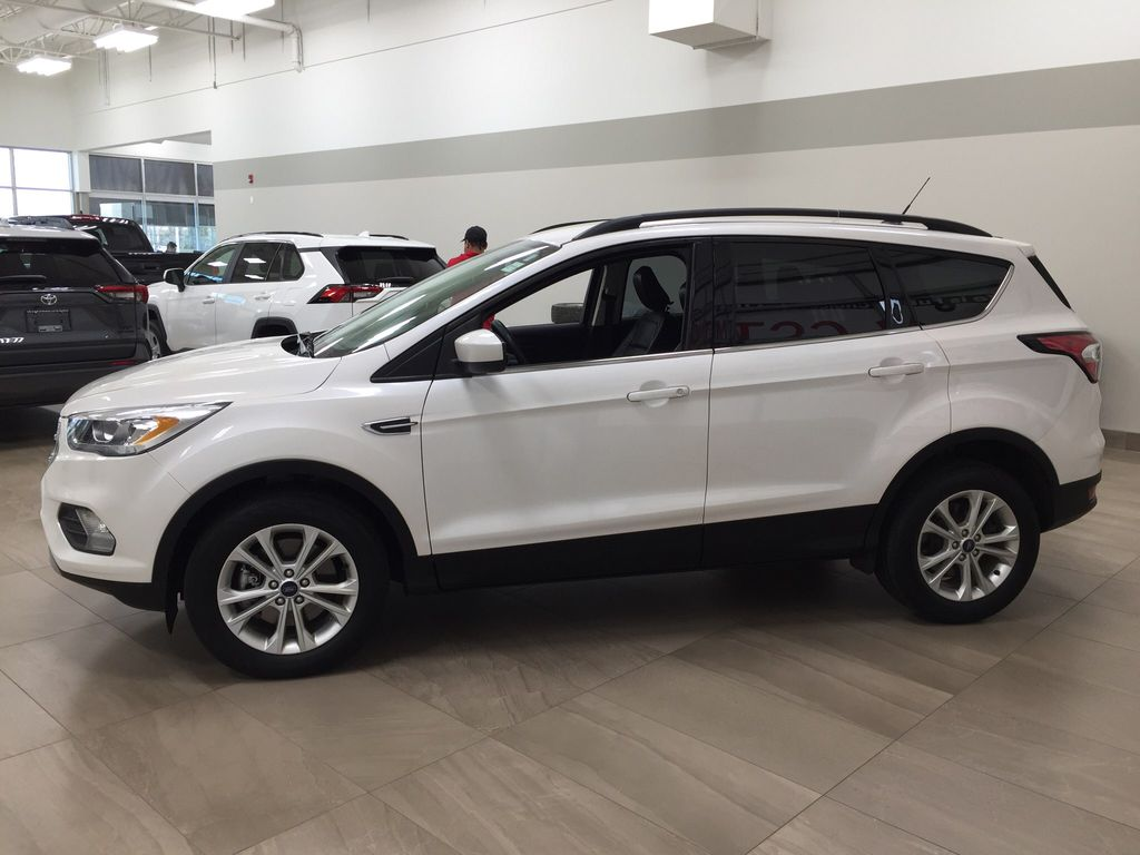 White[Oxford White] 2018 Ford Escape SEL AWD Left Side Photo in Sherwood Park AB