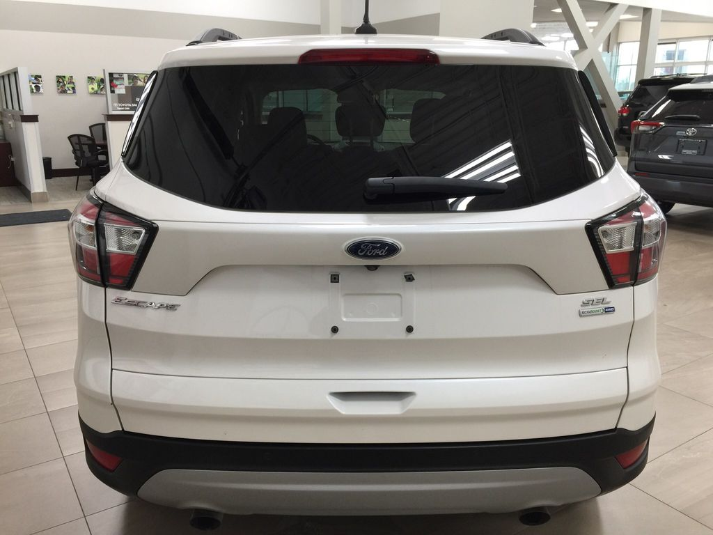 White[Oxford White] 2018 Ford Escape SEL AWD Rear of Vehicle Photo in Sherwood Park AB