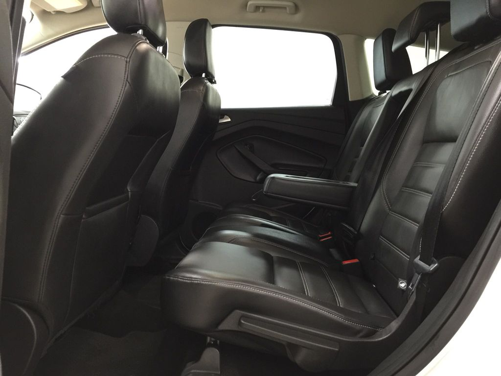 White[Oxford White] 2018 Ford Escape SEL AWD Left Side Rear Seat  Photo in Sherwood Park AB