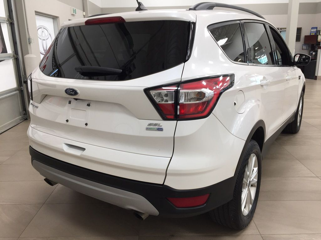 White[Oxford White] 2018 Ford Escape SEL AWD Right Rear Corner Photo in Sherwood Park AB