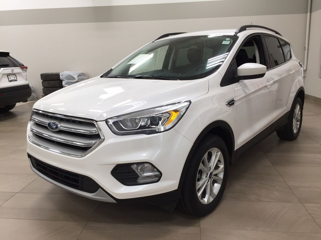White[Oxford White] 2018 Ford Escape SEL AWD Left Front Corner Photo in Sherwood Park AB
