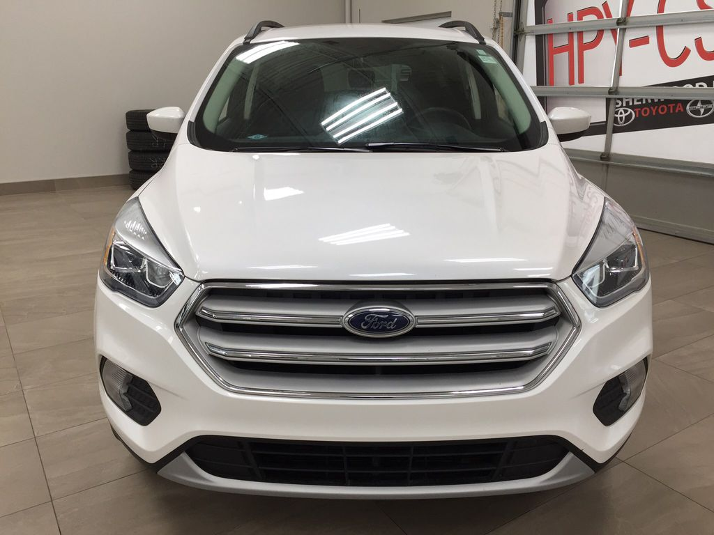 White[Oxford White] 2018 Ford Escape SEL AWD Front Vehicle Photo in Sherwood Park AB