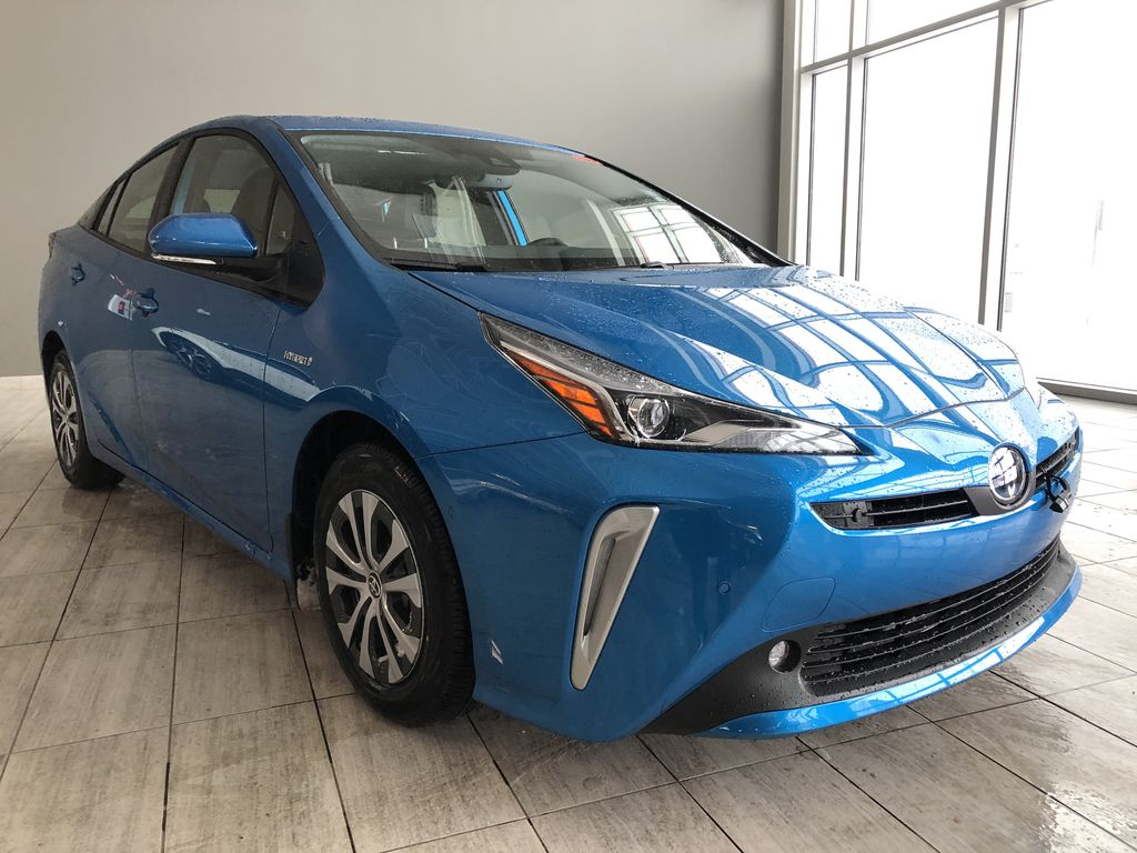 Electric Storm Blue 2021 Toyota Prius Technology Advanced AWD-e Left Front Interior Photo in Edmonton AB