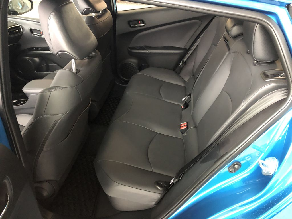 Electric Storm Blue 2021 Toyota Prius Technology Advanced AWD-e Central Dash Options Photo in Edmonton AB