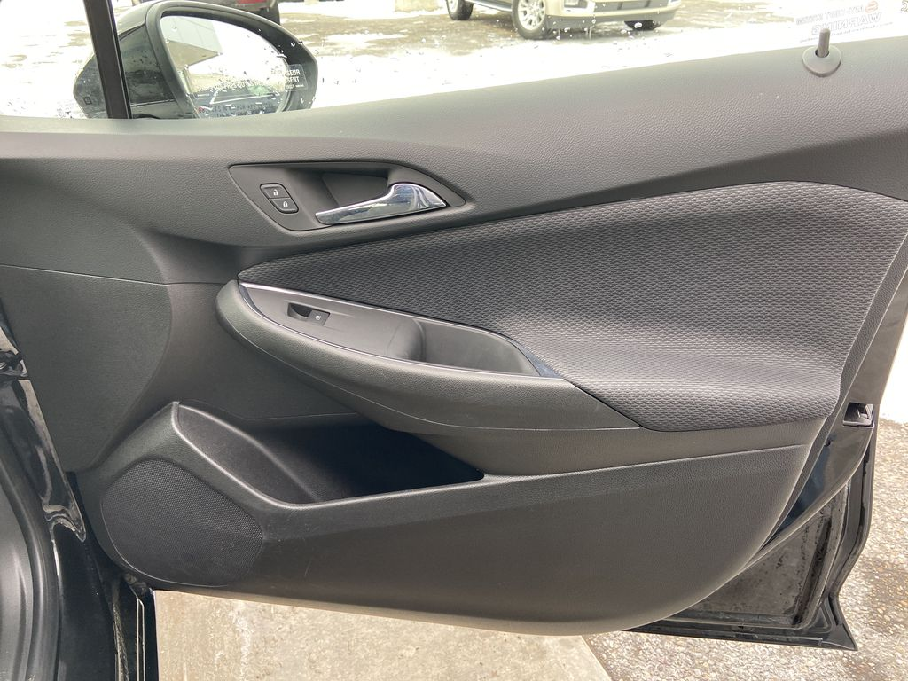 Black[Black] 2019 Chevrolet Cruze LT True North Right Front Interior Door Panel Photo in Calgary AB