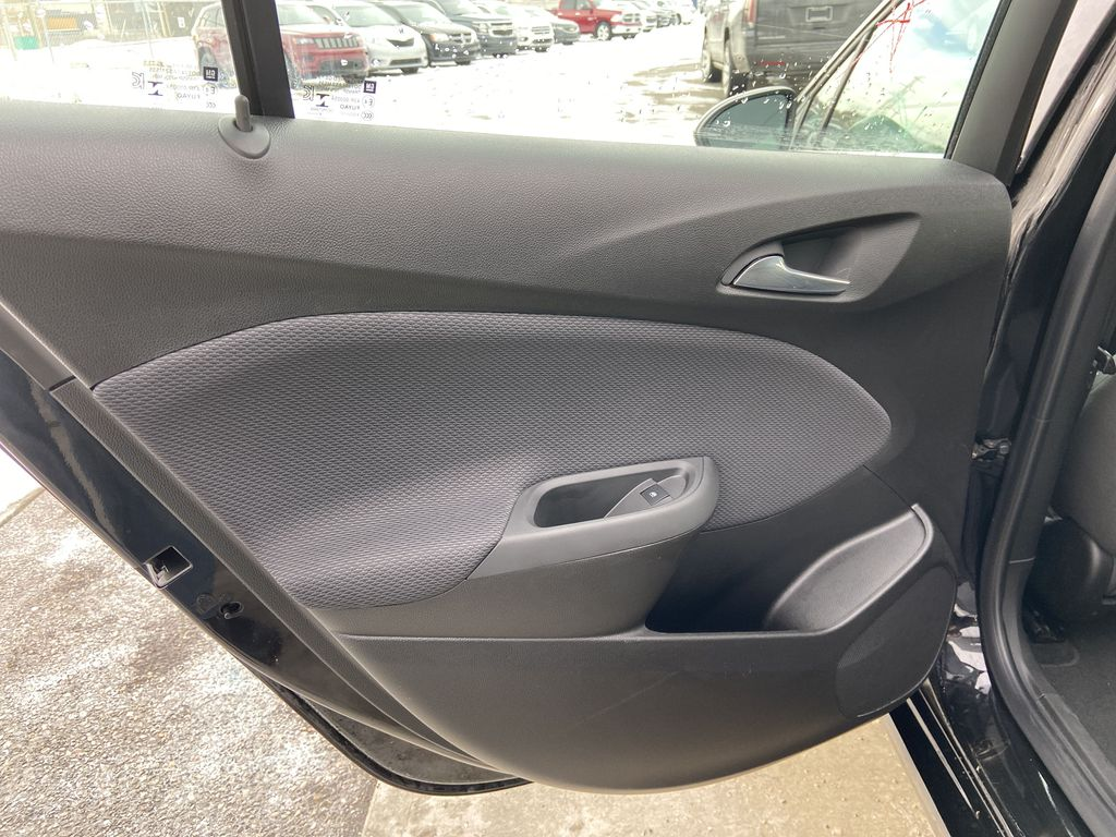 Black[Black] 2019 Chevrolet Cruze LT True North Left Rear Interior Door Panel Photo in Calgary AB