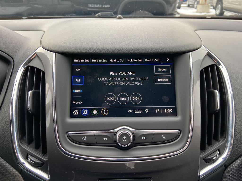 Black[Black] 2019 Chevrolet Cruze LT True North Radio Controls Closeup Photo in Calgary AB
