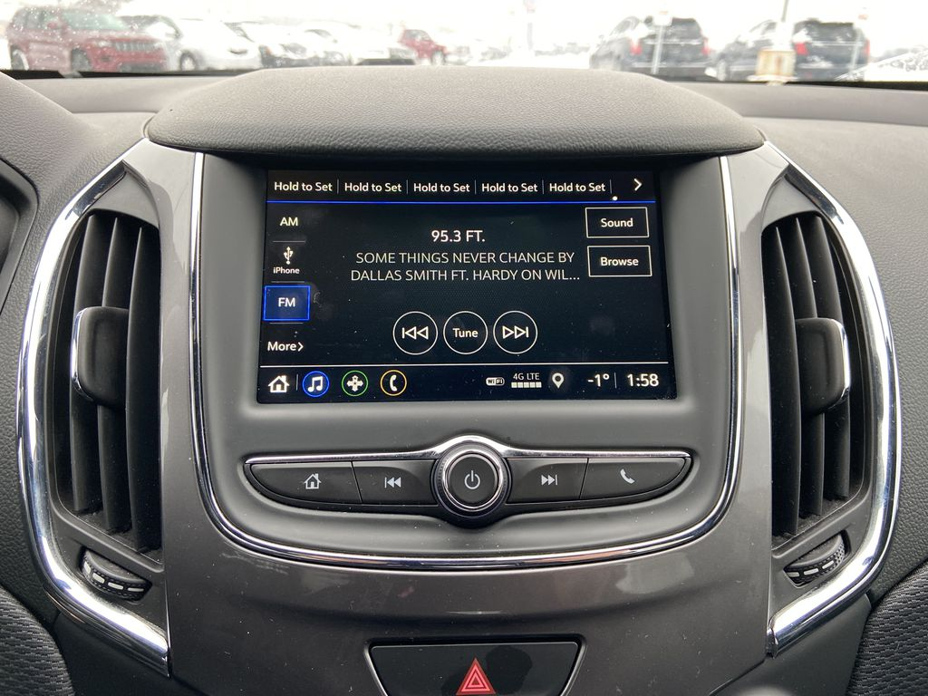 Black[Black] 2019 Chevrolet Cruze Radio Controls Closeup Photo in Calgary AB
