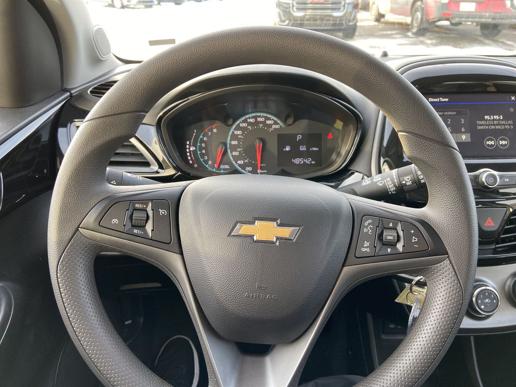 White[Summit White] 2019 Chevrolet Spark Steering Wheel and Dash Photo in Calgary AB