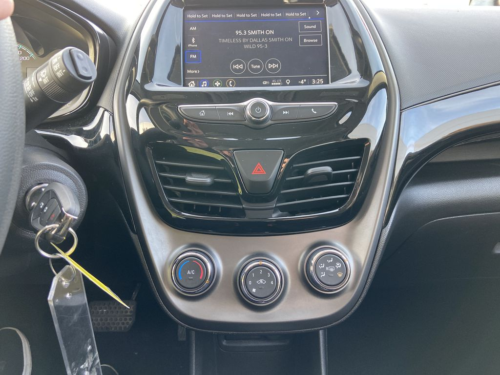 White[Summit White] 2019 Chevrolet Spark Central Dash Options Photo in Calgary AB