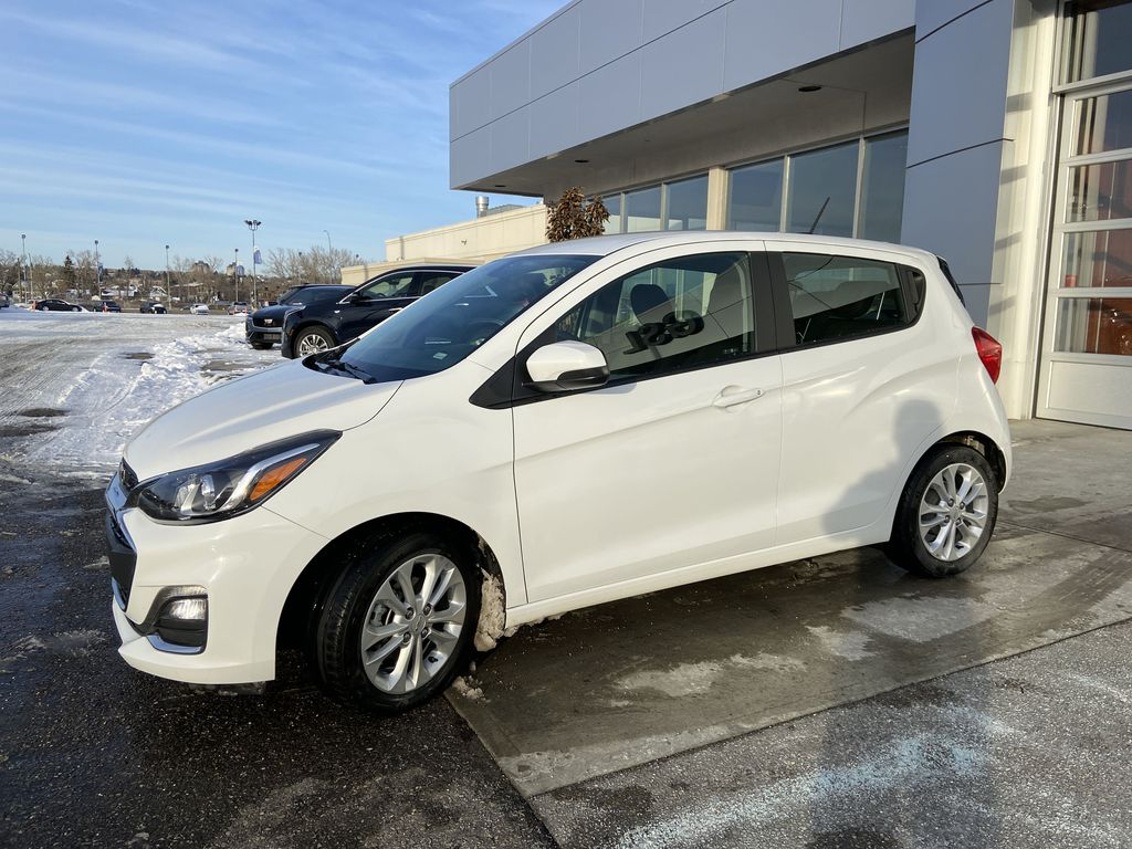White[Summit White] 2019 Chevrolet Spark Left Front Corner Photo in Calgary AB