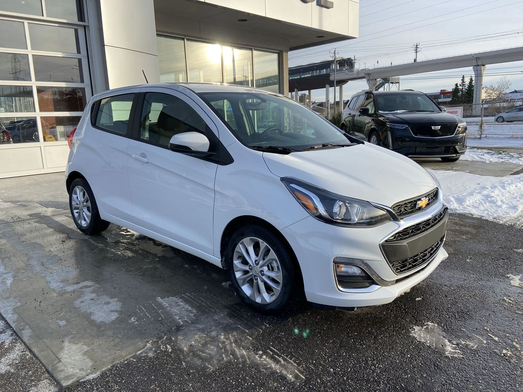 White[Summit White] 2019 Chevrolet Spark Right Front Corner Photo in Calgary AB