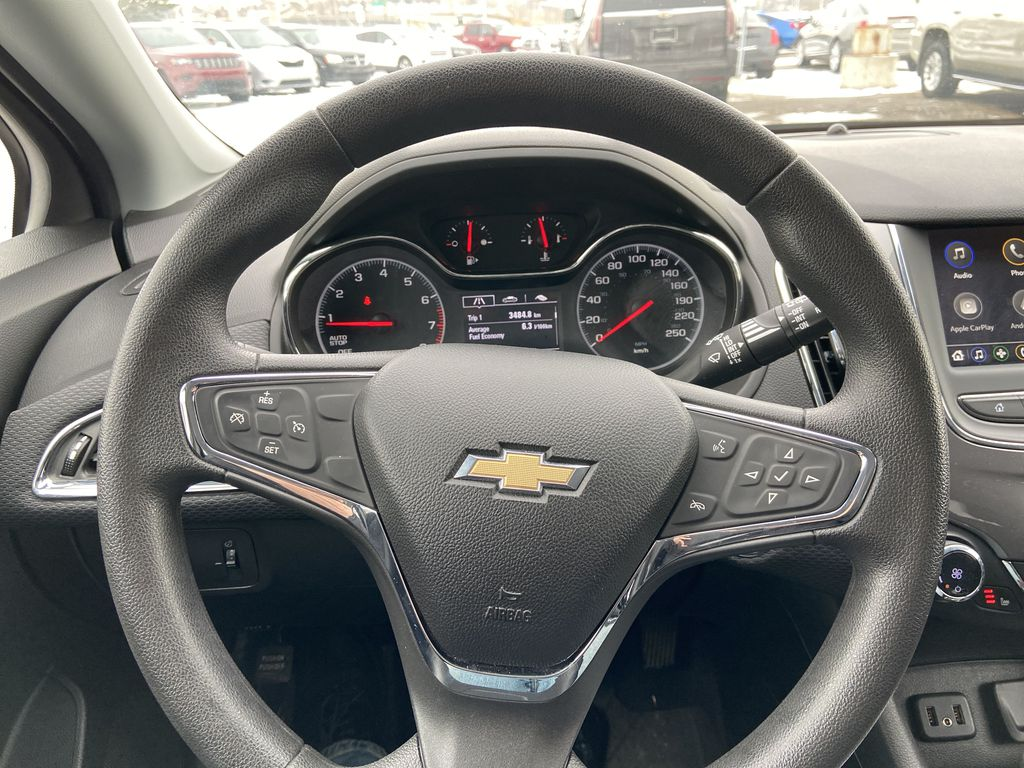 Blue[Kinetic Blue Metallic] 2019 Chevrolet Cruze LT True North Steering Wheel and Dash Photo in Calgary AB