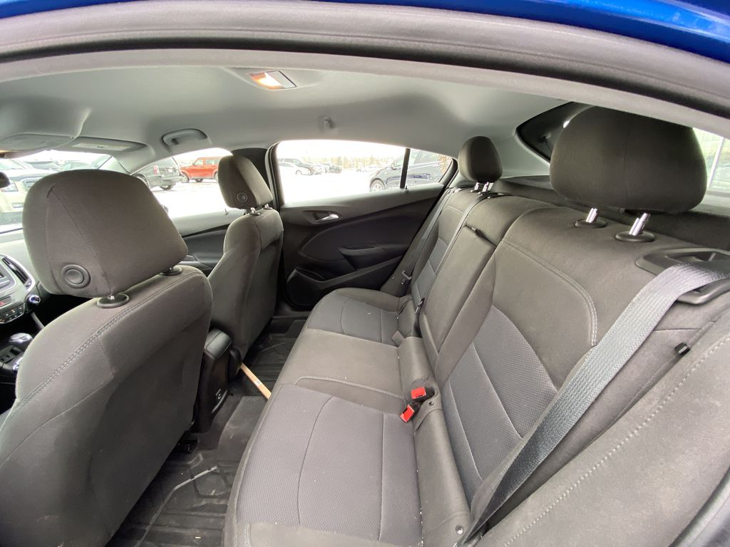 Blue[Kinetic Blue Metallic] 2019 Chevrolet Cruze LT True North Left Side Rear Seat  Photo in Calgary AB