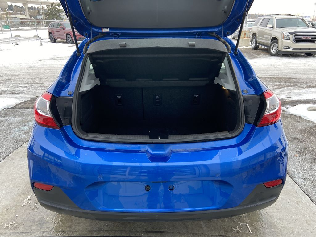 Blue[Kinetic Blue Metallic] 2019 Chevrolet Cruze LT True North Trunk / Cargo Area Photo in Calgary AB