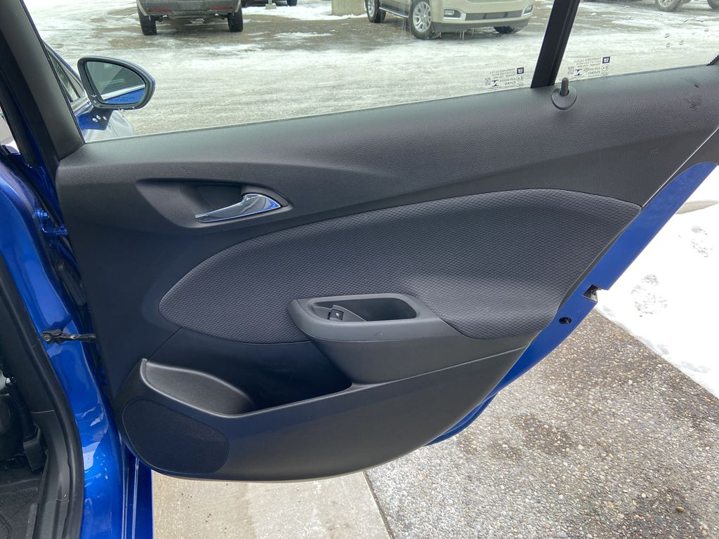 Blue[Kinetic Blue Metallic] 2019 Chevrolet Cruze LT True North Right Rear Interior Door Panel Photo in Calgary AB