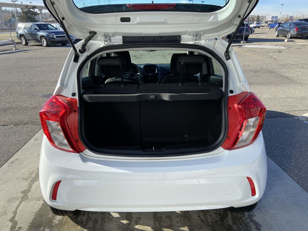White[Summit White] 2019 Chevrolet Spark 1LT Trunk / Cargo Area Photo in Calgary AB