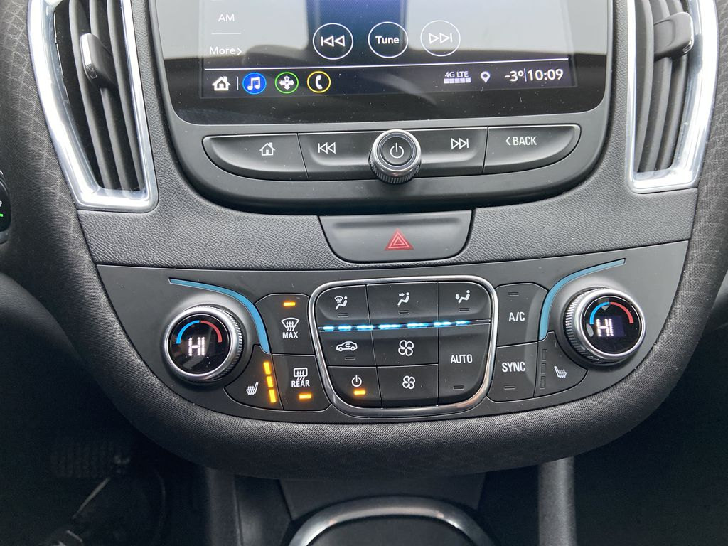 Red[Cajun Red Tintcoat] 2019 Chevrolet Malibu LT Central Dash Options Photo in Calgary AB