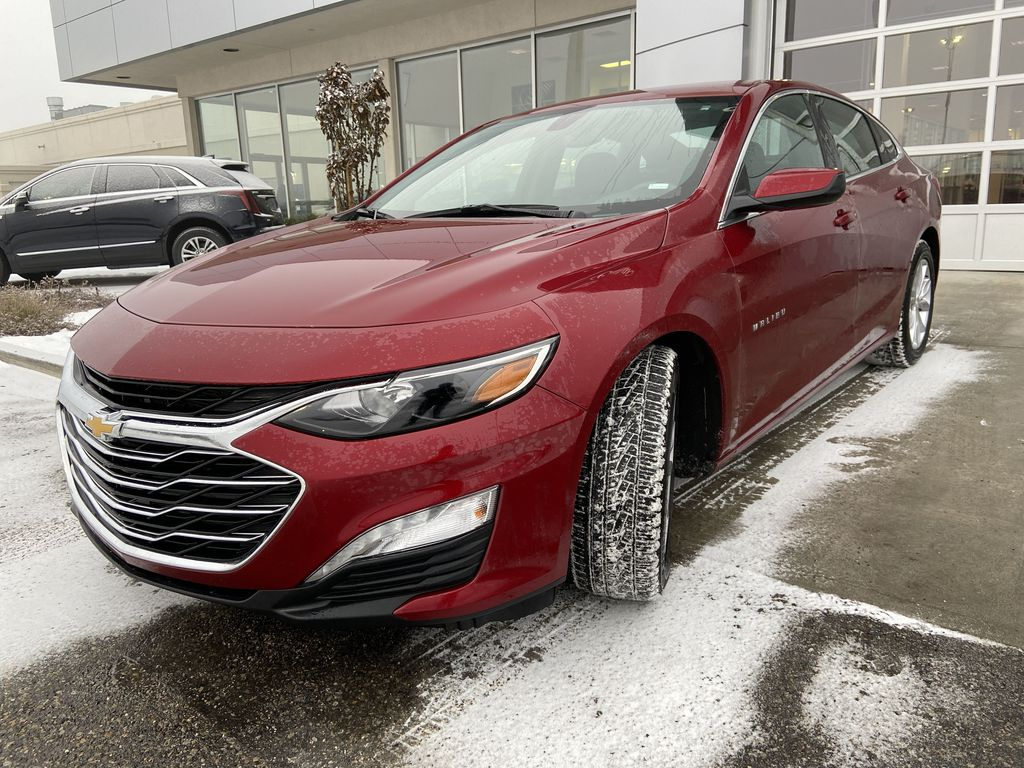 Red[Cajun Red Tintcoat] 2019 Chevrolet Malibu LT Left Front Head Light / Bumper and Grill in Calgary AB