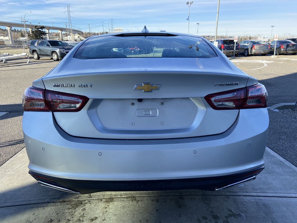 Silver[Silver Ice Metallic] 2020 Chevrolet Malibu Premier Rear of Vehicle Photo in Calgary AB