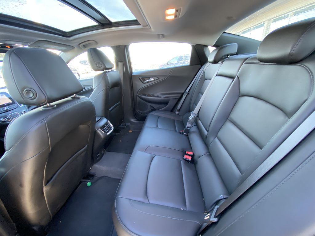 Silver[Silver Ice Metallic] 2020 Chevrolet Malibu Premier Left Side Rear Seat  Photo in Calgary AB