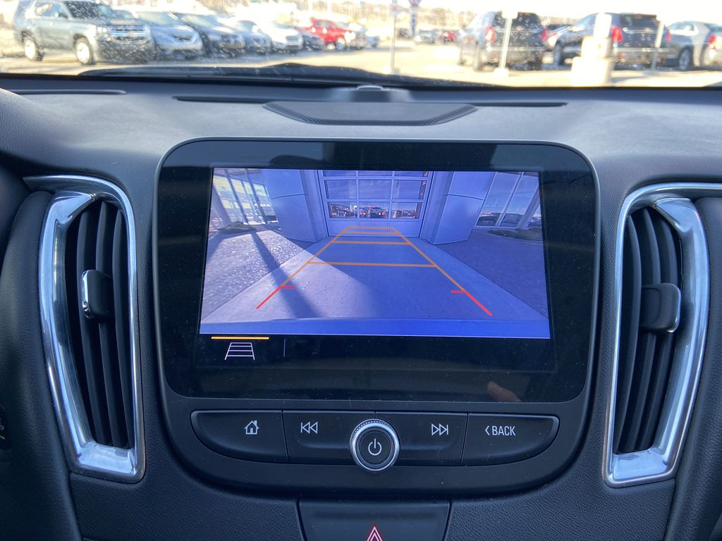 Silver[Silver Ice Metallic] 2020 Chevrolet Malibu Premier Backup Camera Closeup Photo in Calgary AB