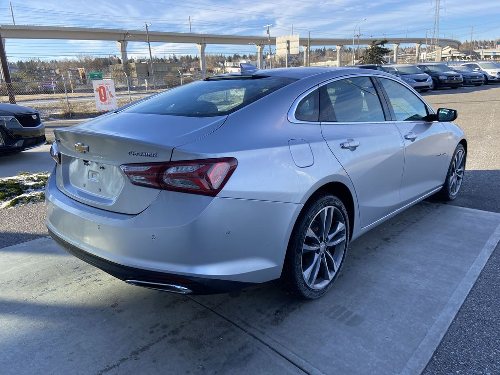 Silver[Silver Ice Metallic] 2020 Chevrolet Malibu Premier Right Rear Corner Photo in Calgary AB