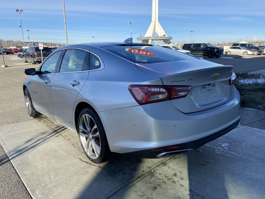 Silver[Silver Ice Metallic] 2020 Chevrolet Malibu Premier Left Rear Corner Photo in Calgary AB