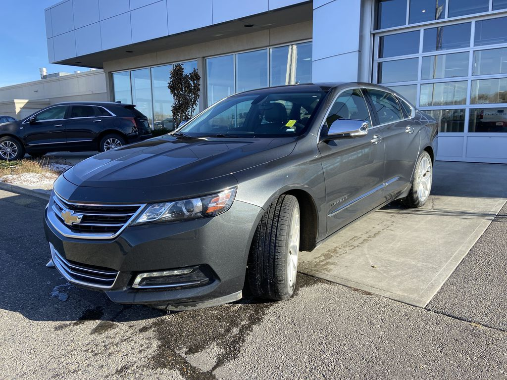 Gray[Nightfall Grey Metallic] 2019 Chevrolet Impala Premier Left Front Head Light / Bumper and Grill in Calgary AB
