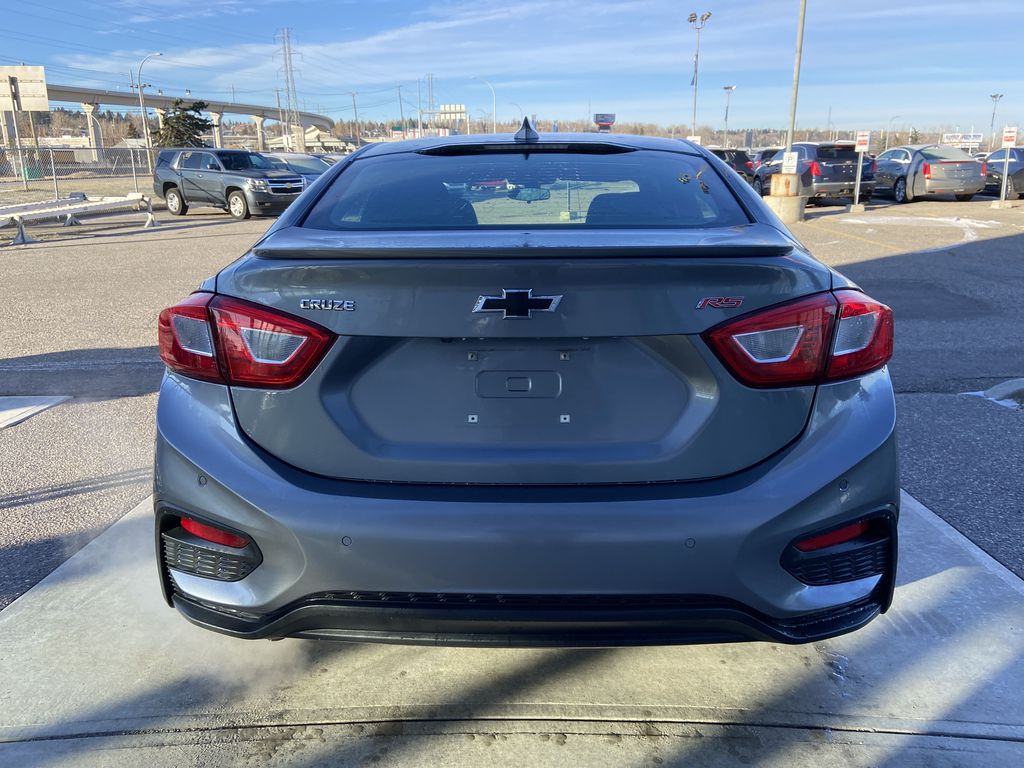 Gray[Satin Steel Grey Metallic] 2019 Chevrolet Cruze RS Package Rear of Vehicle Photo in Calgary AB