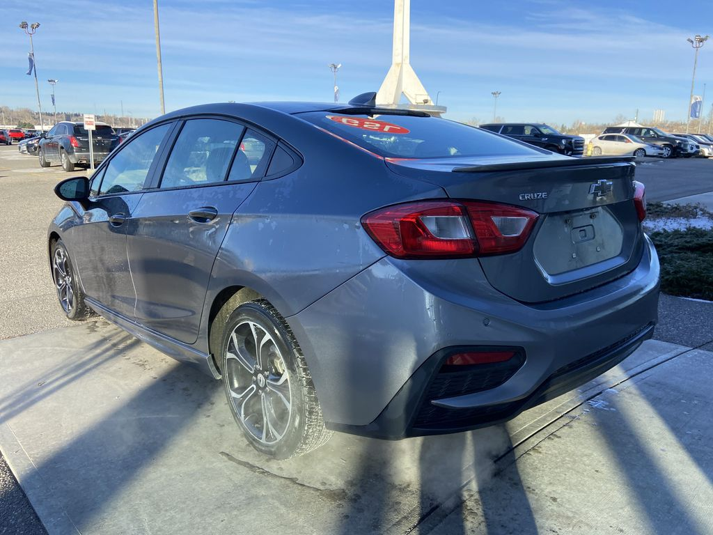 Gray[Satin Steel Grey Metallic] 2019 Chevrolet Cruze RS Package Left Rear Corner Photo in Calgary AB