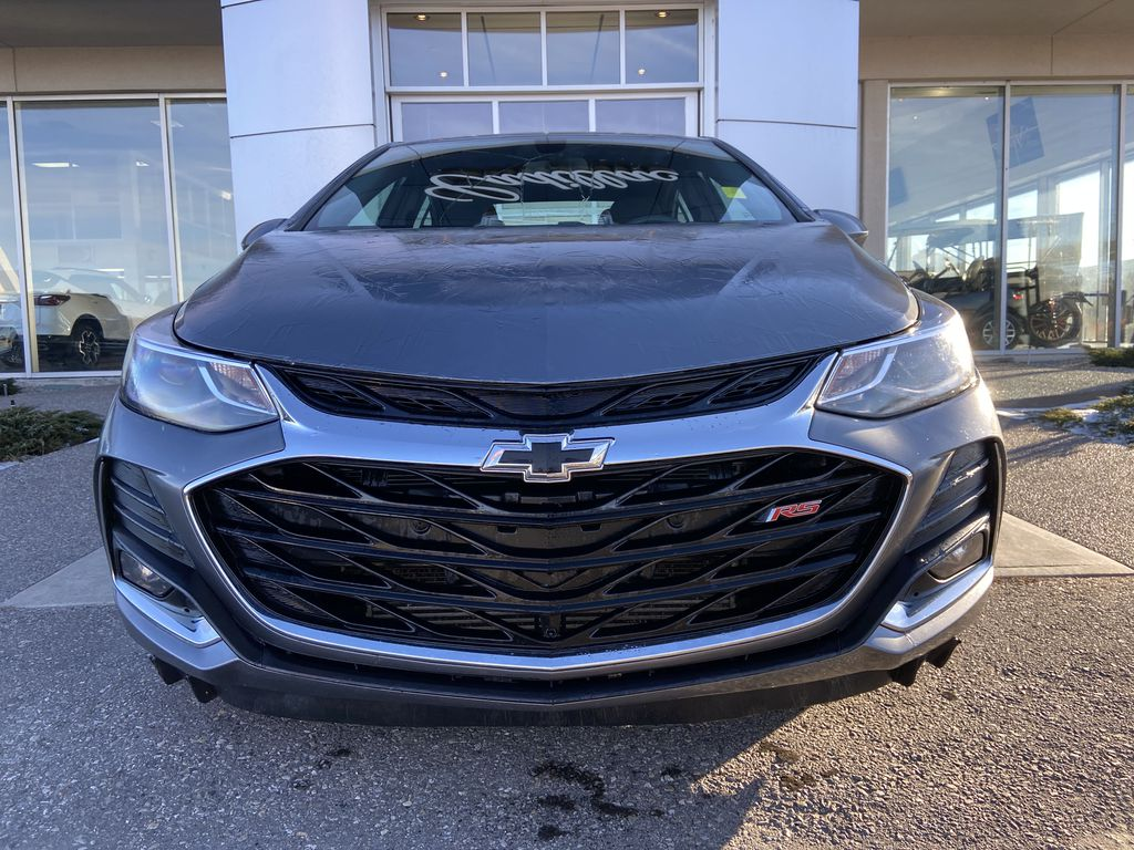 Gray[Satin Steel Grey Metallic] 2019 Chevrolet Cruze RS Package Front Vehicle Photo in Calgary AB