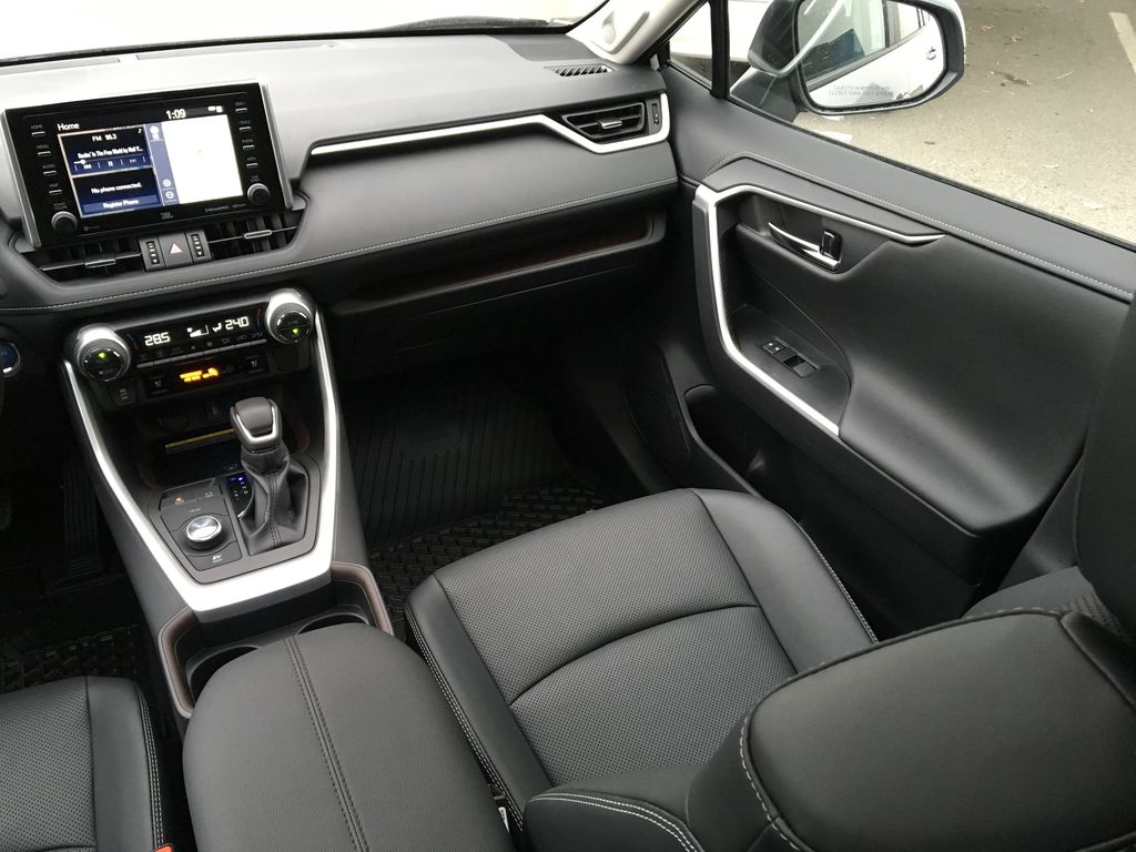 Silver[Silver Sky Metallic] 2021 Toyota RAV4 Hybrid Limited Right Side Front Seat  Photo in Kelowna BC