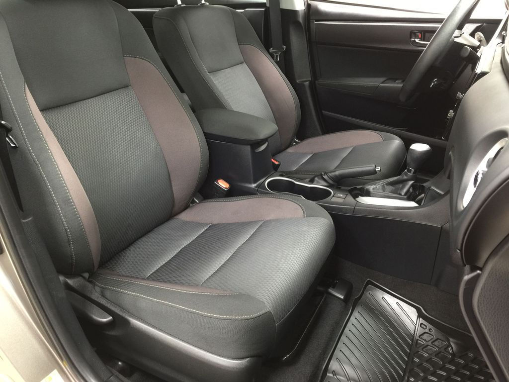 BROWN 2018 Toyota Corolla LE Upgrade Right Side Front Seat  Photo in Sherwood Park AB
