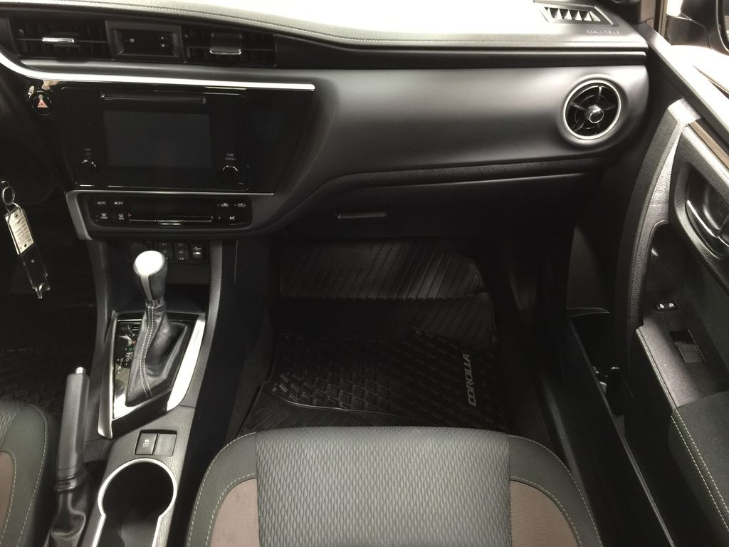 BROWN 2018 Toyota Corolla LE Upgrade Right Front Seat Photo in Sherwood Park AB