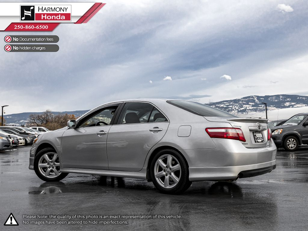 Silver 2009 Toyota Camry Left Side Rear Seat  Photo in Kelowna BC