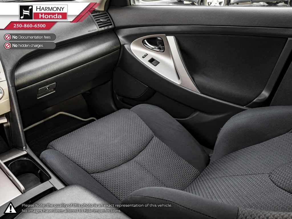 Silver 2009 Toyota Camry Left Front Seat Photo in Kelowna BC