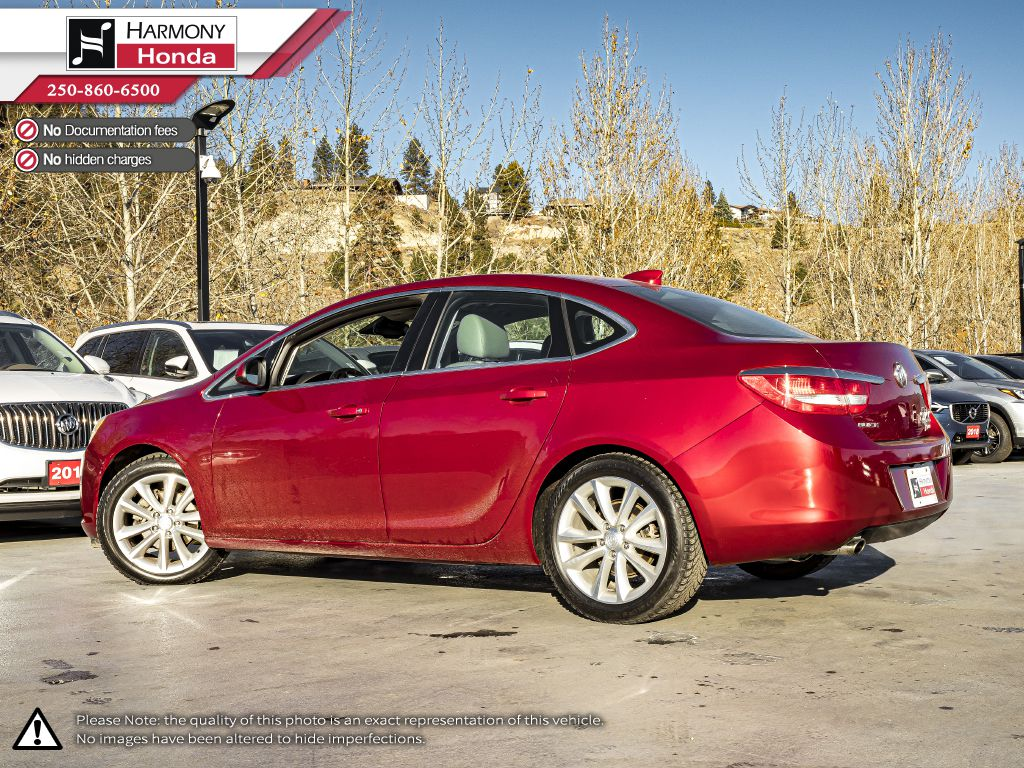 Red - Crystal Red Tintcoat 2015 Buick Verano Left Side Rear Seat  Photo in Kelowna BC