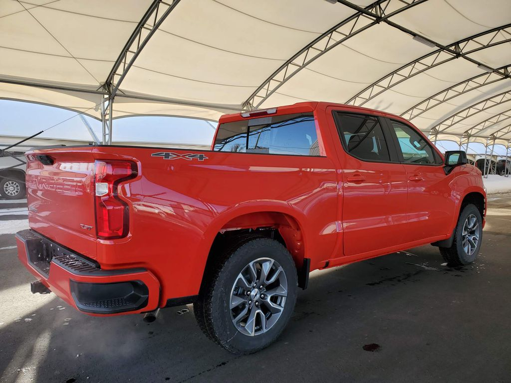 Red 2021 Chevrolet Silverado 1500 Rear of Vehicle Photo in Airdrie AB