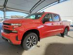 Red 2021 Chevrolet Silverado 1500 Steering Wheel and Dash Photo in Airdrie AB