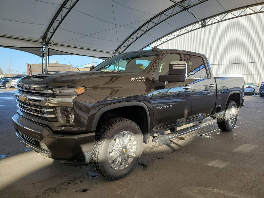 Brown 2021 Chevrolet Silverado 2500HD Rear of Vehicle Photo in Airdrie AB