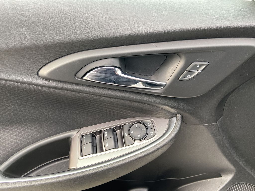 White[Iridescent Pearl Tricoat] 2019 Chevrolet Malibu LT  Driver's Side Door Controls Photo in Calgary AB