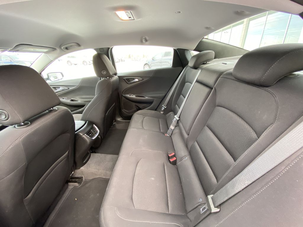 White[Iridescent Pearl Tricoat] 2019 Chevrolet Malibu LT Left Side Rear Seat  Photo in Calgary AB